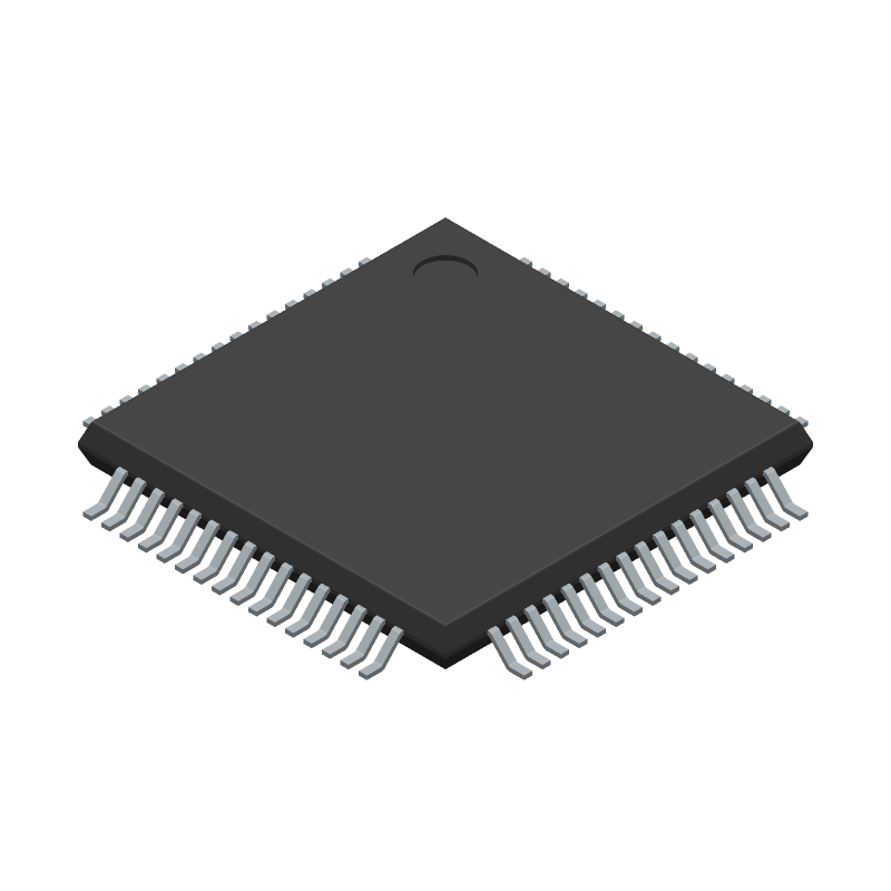 3D Model - Microchip - PIC32MX320F064H-80I/PT