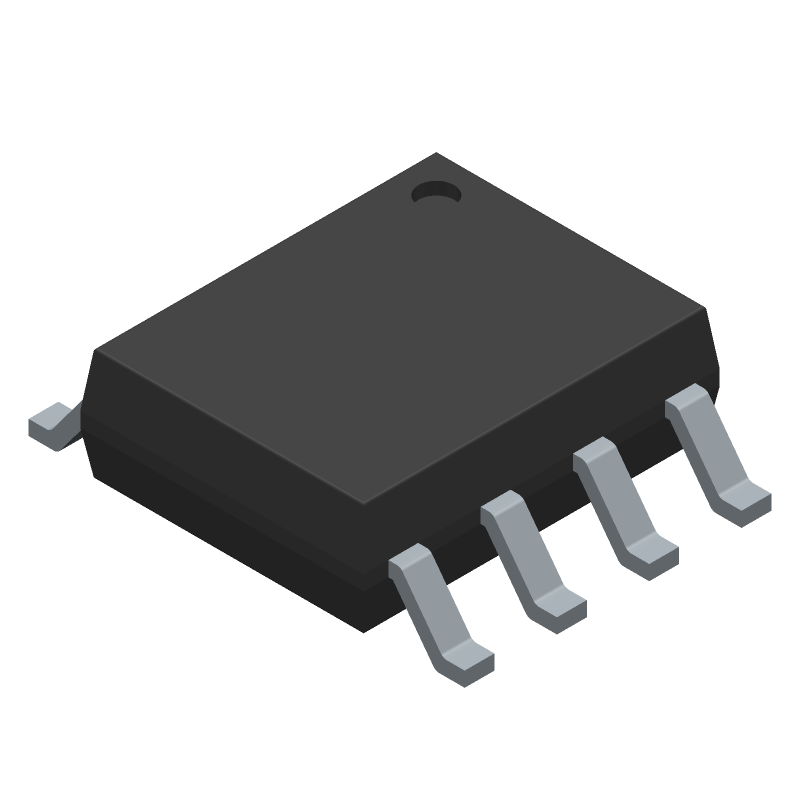 TLC7701ID - Texas Instruments - 3D model - Small Outline Packages - D (R-PDSO-G8)