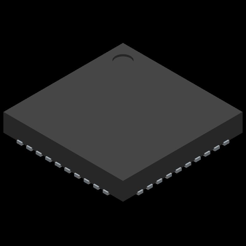 TPS65023RSBT - Texas Instruments - 3D model - Quad Flat No-Lead - RSB (S-PWQFN-N40)_1