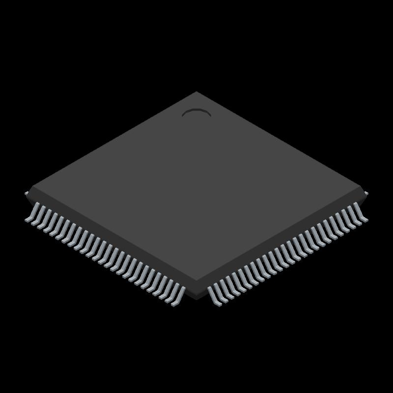 STM32F101VGT6 - STMicroelectronics - 3D model - Quad Flat Packages -  LQFP100