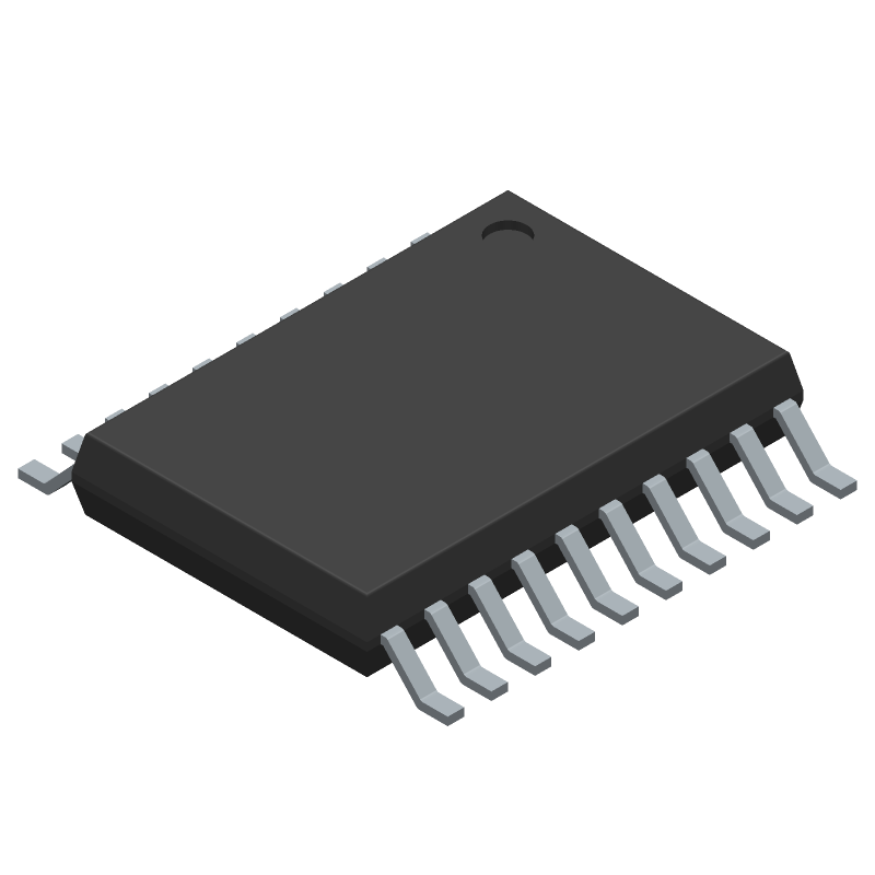 STM8S003F3P6 - STMicroelectronics - 3D model - Small Outline Packages - TSSOP20