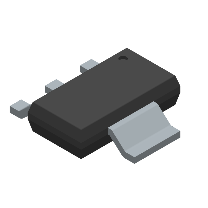 LM1117MPX-3.3/NOPB - Texas Instruments - 3D model - SOT223 (3-Pin) - DCY (R-PDSO-G4)