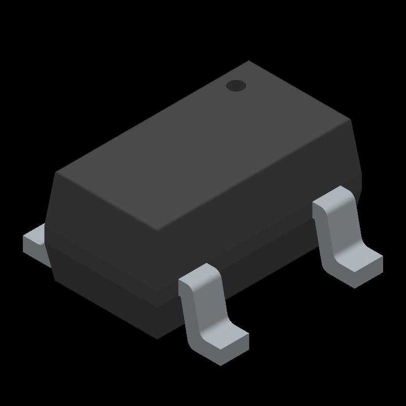 SN74LVC1G17DBVR - Texas Instruments - 3D model - SOT23 (5-Pin) - DBV0005A