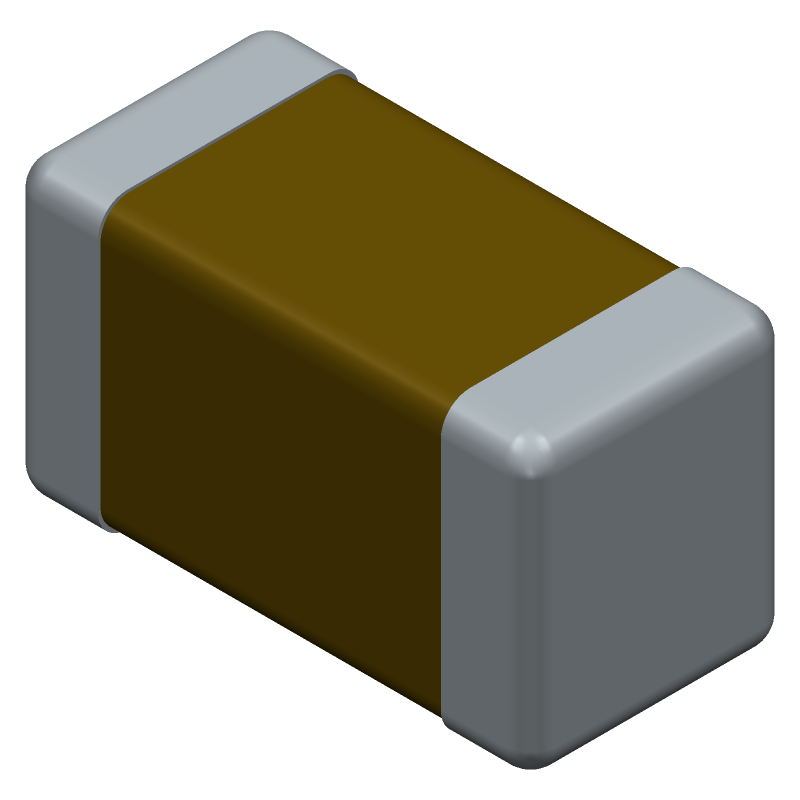 GRM31CR60J107ME39L - Murata Electronics - 3D model - Capacitor Chip Non-polarised - GRM31_0.30 L=3.2mm W=1.6mm T=1.6mm
