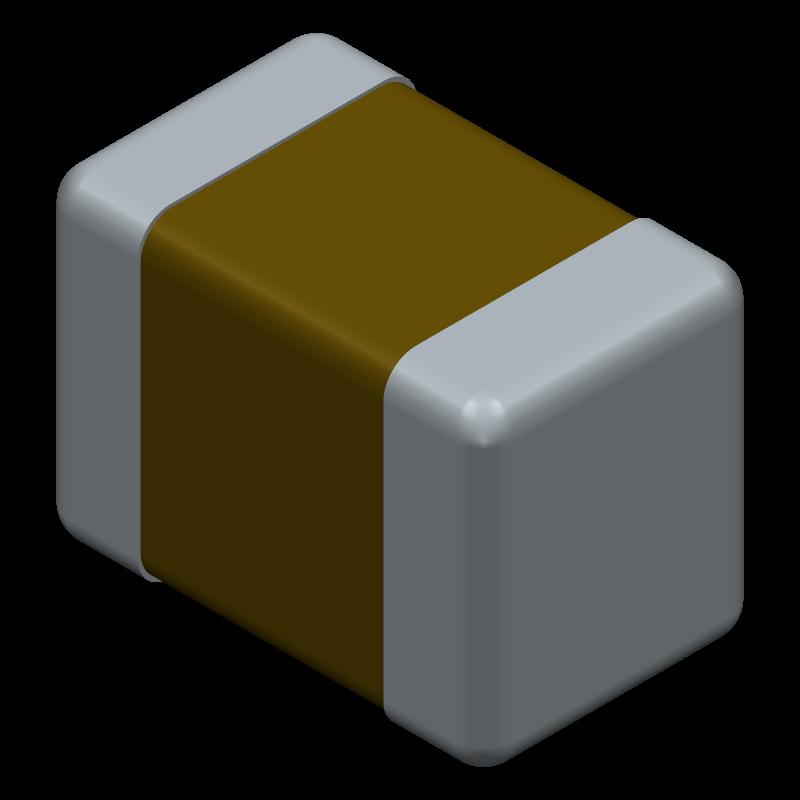 GRM21BR71C474KA01L - Murata Electronics - 3D model - Capacitor Chip Non-polarised - GRM21B