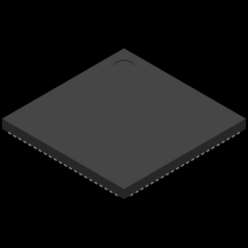 AD9914BCPZ - Analog Devices - 3D model - Quad Flat No-Lead - AD9914BCPZ-