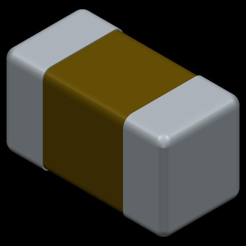 GRM155R61A105KE15D - Murata Electronics - 3D model - Capacitor Chip Non-polarised - GRM15_0.10 L=1.0mm W=0.5mm T=0.5mm