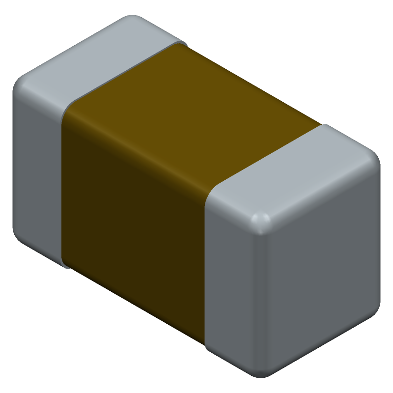 GRM188D71A106MA73D - Murata Electronics - 3D model - Capacitor Chip Non-polarised - GRM18_0.20 L=1.6mm W=0.8mm T=0.8mm