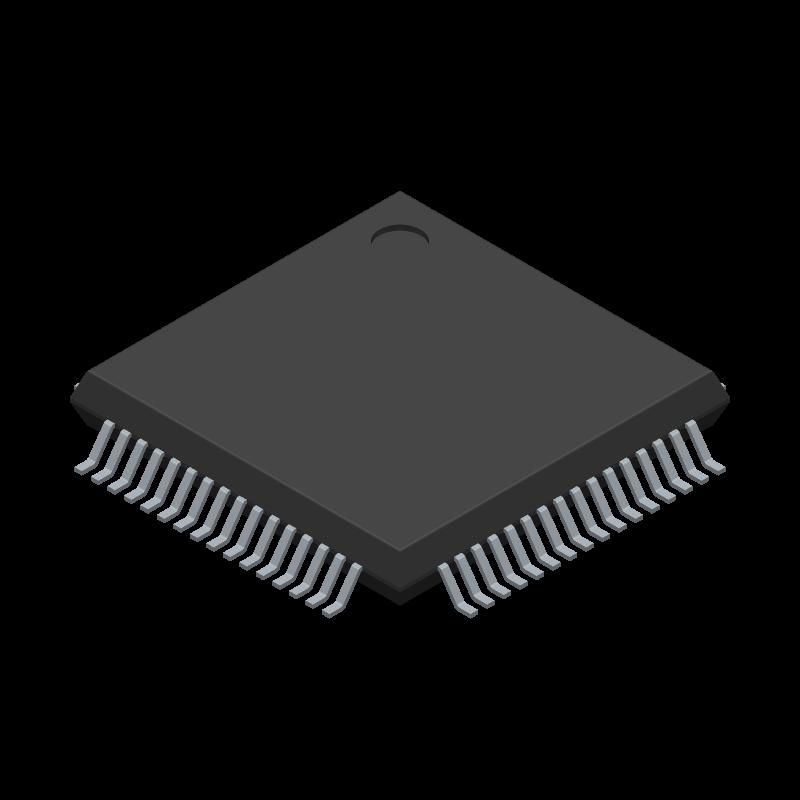 AD7606BSTZ-4 - Analog Devices - 3D model - Quad Flat Packages - ST-64-2 (LQFP)