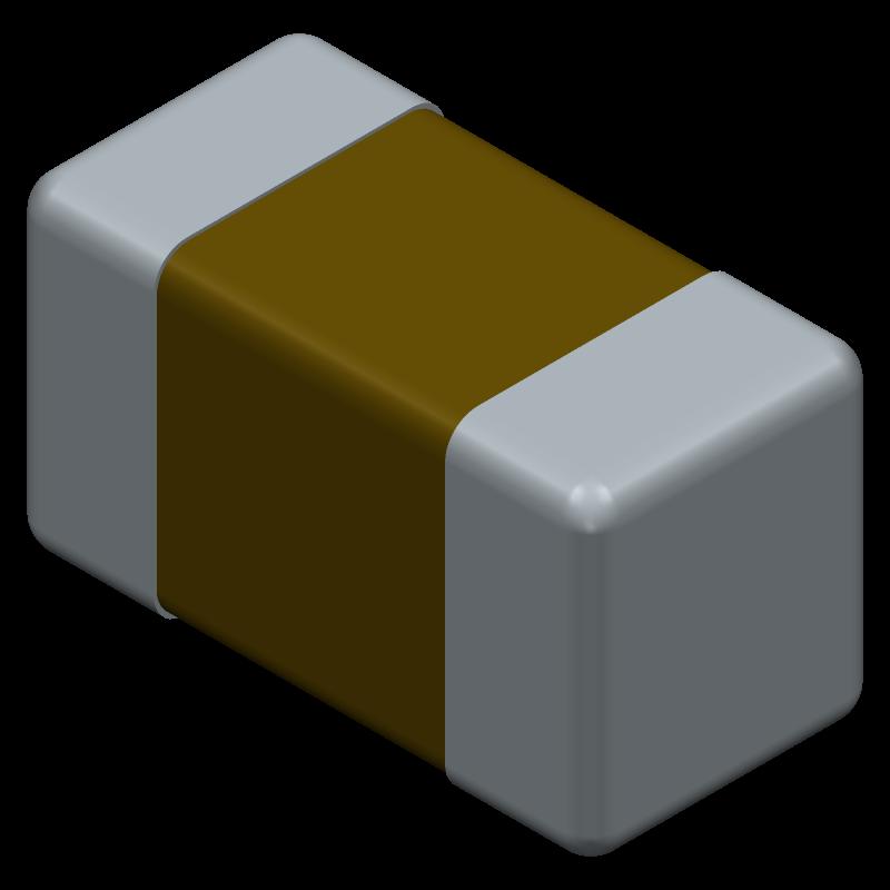 04023C104KAT2A - AVX - 3D model - Capacitor Chip Non-polarised - 402