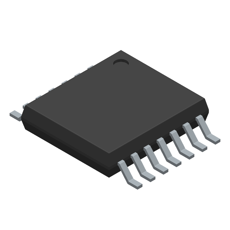 TLC2274AIPWR - Texas Instruments - 3D model - Small Outline Packages - TLC2274AIPWR