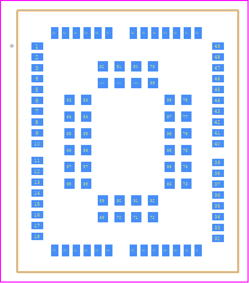 PCB Footprint for BG96MA