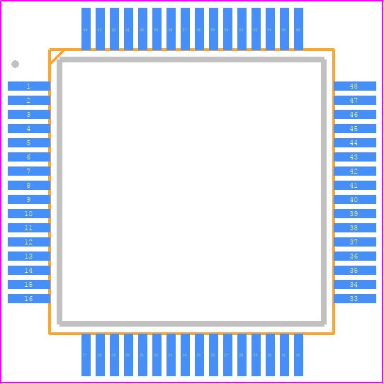 PIC32MX320F064H-80I/PT - Microchip PCB footprint - Quad Flat Packages - (PT)64-Lead(TQFP)