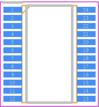 ADM3315EARUZ - Analog Devices PCB footprint - Small Outline Packages - RU-24 (TSSOP)