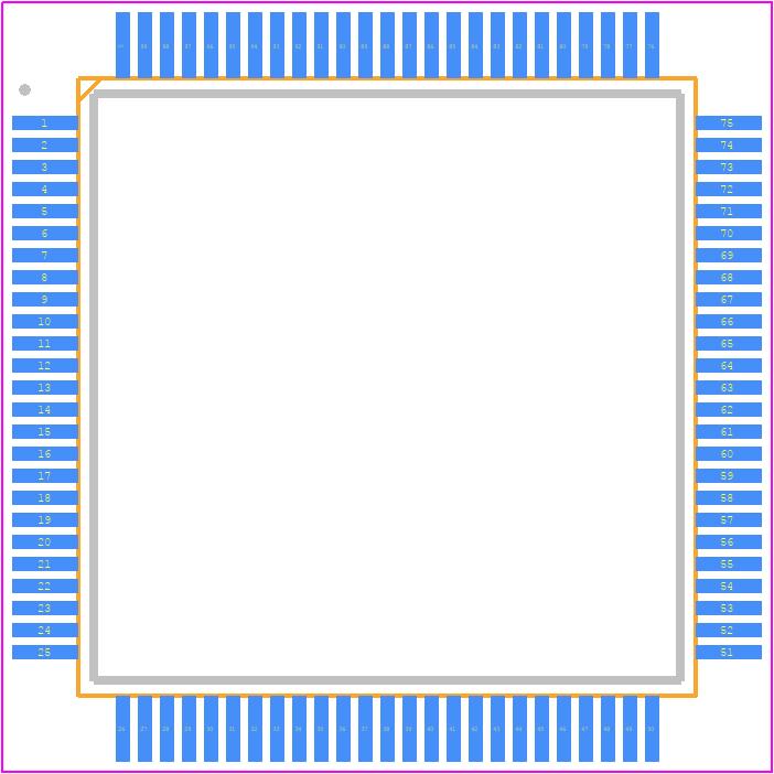 STM32F101VGT6 - STMicroelectronics PCB footprint - Quad Flat Packages -  LQFP100