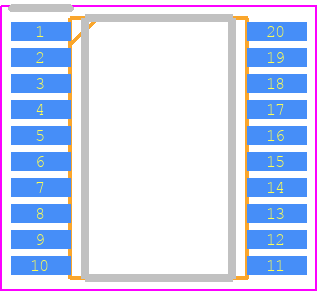STM8S003F3P6 - STMicroelectronics PCB footprint - Small Outline Packages - TSSOP20