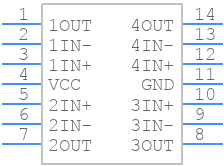 LM324AN - Texas Instruments - PCB symbol