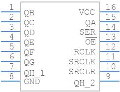 SN74HC595N - Texas Instruments - PCB symbol