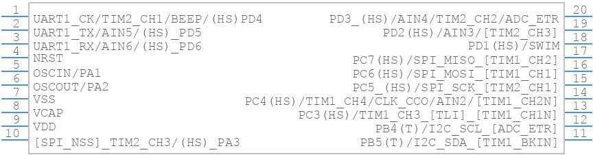 STM8S003F3P6 - STMicroelectronics - PCB symbol