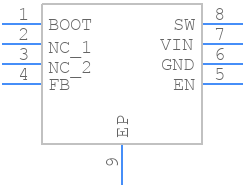 LM22675MRE-5.0/NOPB - Texas Instruments - PCB symbol