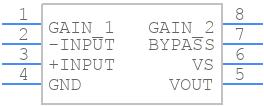LM386MX-1/NOPB - Texas Instruments - PCB symbol